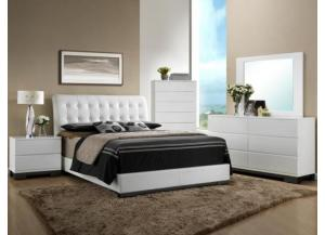 cm avery queen bed , dresser ,mirror & 1 night stand