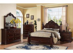 cm b8300 charlotte queen bed with dresser ,mirror & 1 night stand