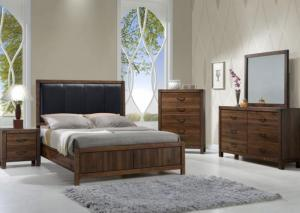 Belmont Rustic Queen Bed, Dresser, Mirror and Nightstand