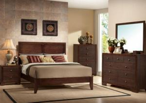 Silvia Queen Bed, Dresser, Mirror and Nightstand