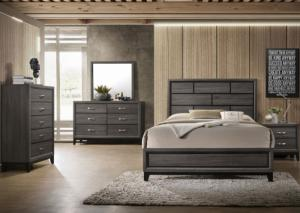 Curtis Gray Queen Bed, Dresser, Mirror and Nightstand