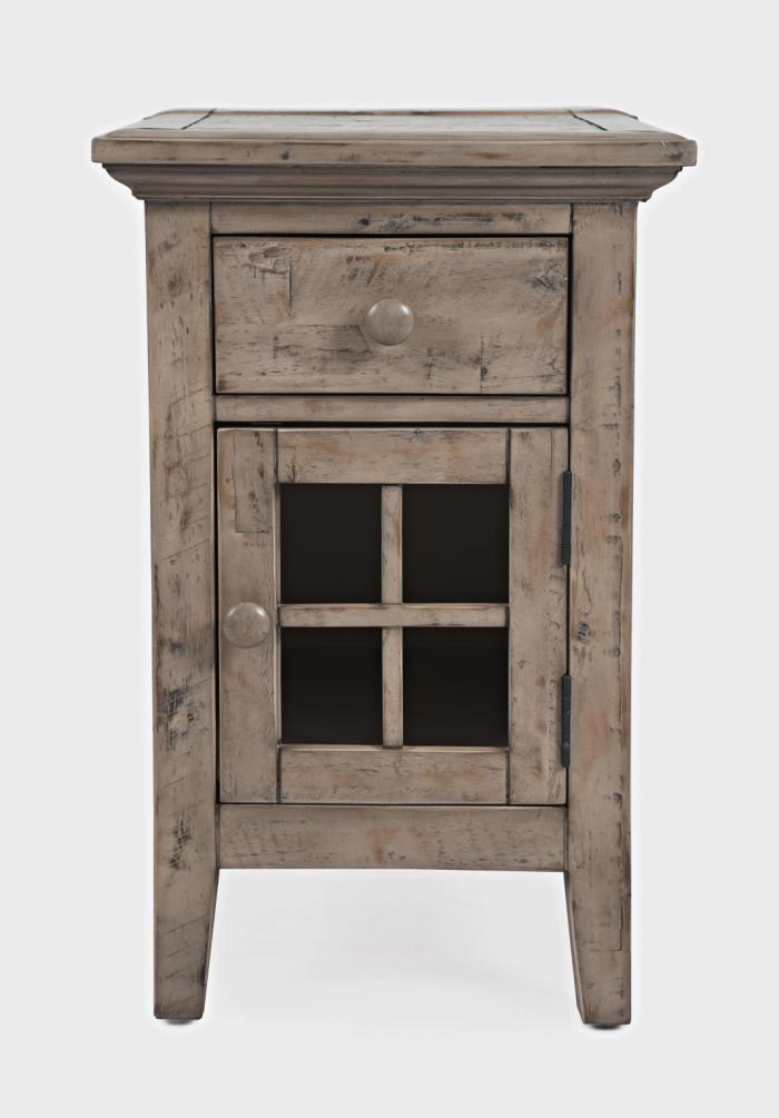 Rustic Shores Weathered Grey Chairside End Table,Jofran