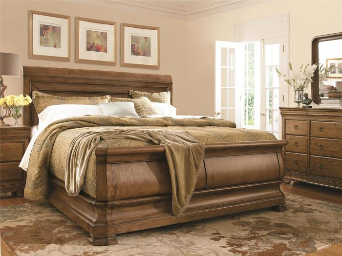 New Lou King Sleigh Bed,Universal
