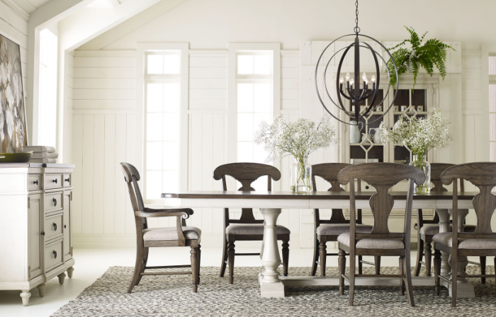 Brookhaven Trestle Table and Six Side Chairs,Legacy Classic