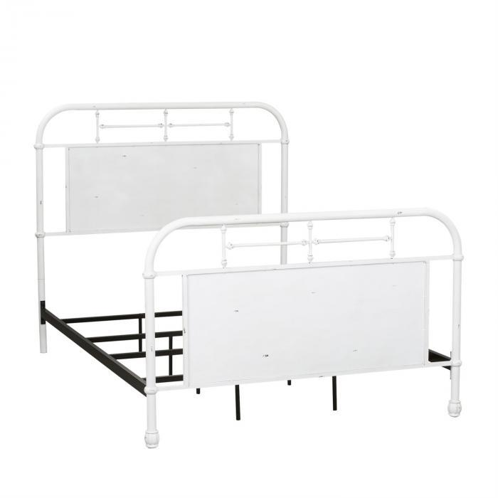 Vintage Series Full Metal Bed - Antique White,Liberty Furniture