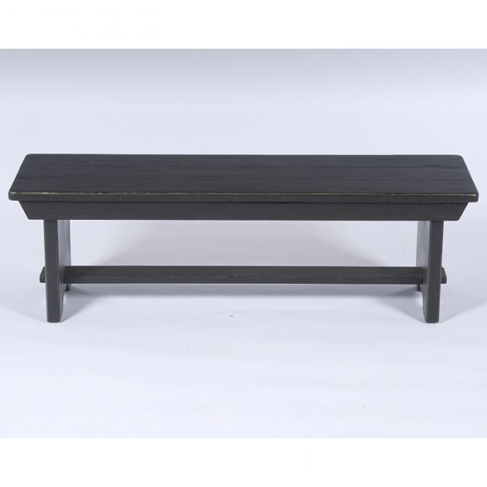 Attic Heirlooms Black Dining Bench