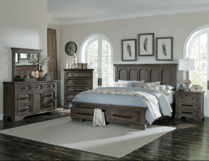 Toulon Queen Storage Bed,Homelegance