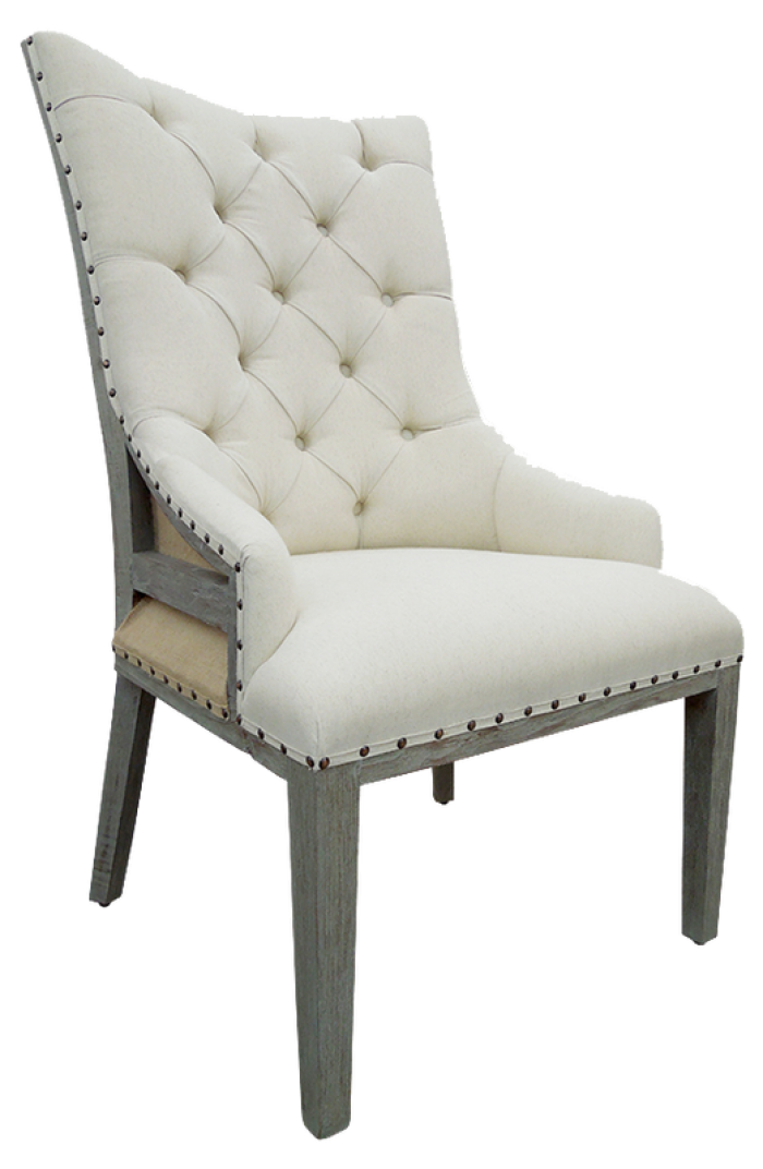 Urban Industrial Deconstructed Arm Chair in Toscano Grey,Texas Rustic