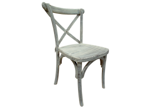 Urban Industrial X-Back Chair in Toscano Grey