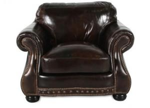 Chesterfield Cowboy Chair and Ottoman