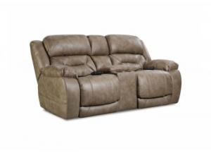 Enterprise Mushroom Power Reclining Loveseat with Adjustable Head and Lumbar