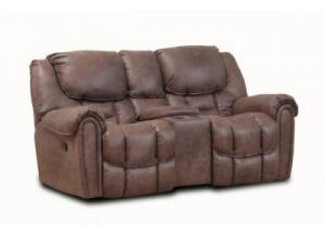 Del Mar Mocha Rocking Reclining Loveseat with Console