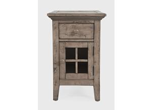 Rustic Shores Weathered Grey Chairside End Table