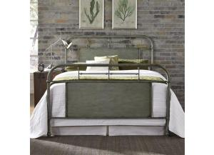 Vintage Series Full Metal Bed - Green