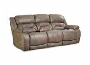 Enterprise Mushroom Power Reclining Sofa with Adjustable Head and Lumbar