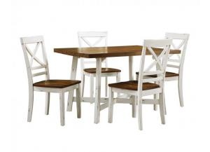 Amelia Dining Table and 4 Chairs Set