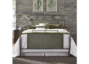 Vintage Series King Metal Bed - Green