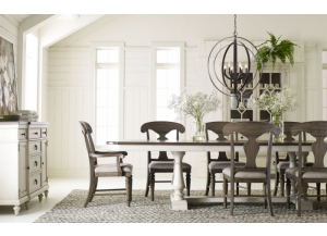 Brookhaven Trestle Table and Six Side Chairs
