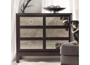 Melange Six Drawer Mirrored Front Chest,Hooker Furniture