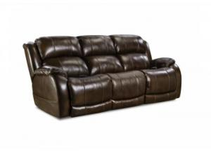 Image for Walnut Power Reclining Sofa with Adjustable Head and Lumbar