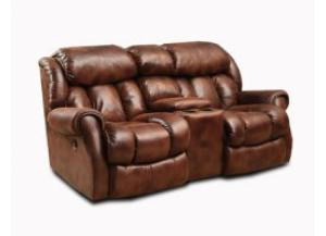 Cody Espresso Reclining Loveseat with Console