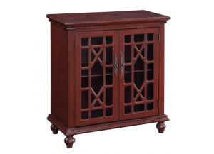 Esnon Texture Red 2 Door Cabinet