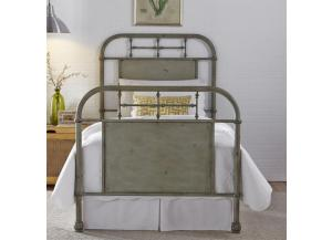 Vintage Series Twin Metal Bed - Green