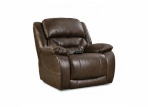 Enterprise Walnut Power Recliner with Adjustable Head and Lumbar