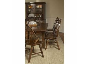 Attic Heirlooms Rustic Oak Side Chair