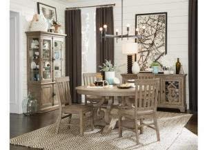 Tinley Park Round Dining Table and 4 Chairs