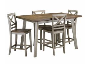 Fairhaven Counter Height Dining Table Set with Four Stools