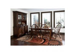 Attic Heirlooms Rustic Oak 7-piece Dining Set