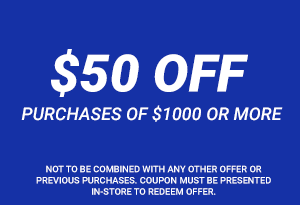 $50 Off Purchases of $1000 or more