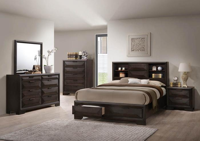 Carter Queen Bed w/Bookcase Headboard,Instore Products