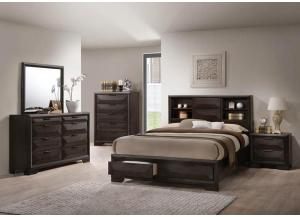 Carter Queen Bed w/Bookcase Headboard