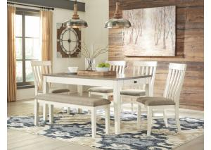 RECTANGULAR TABLE AND 4 CHAIRS