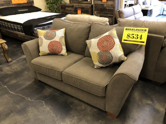 Awe Inspiring Aloha Furniture Gray Loveseat With Lifetime Warranty From Download Free Architecture Designs Fluibritishbridgeorg