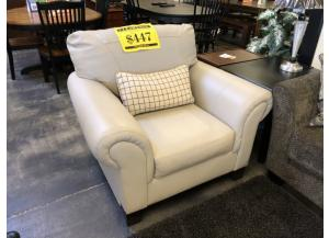 White Comfortable Leather Chair