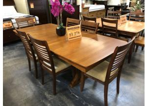 Solid Wood Extension Table and 6 Chairs
