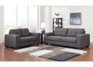 Contemporary Sofa and Loveseat Set