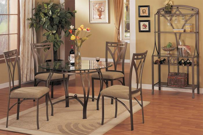 F2028 5 piece dining set package includes 4 chairs with optional wine rack,MEK IMPORTS