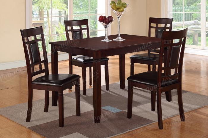 F2232 5 piece dining set package includes 4 chairs ,MEK IMPORTS