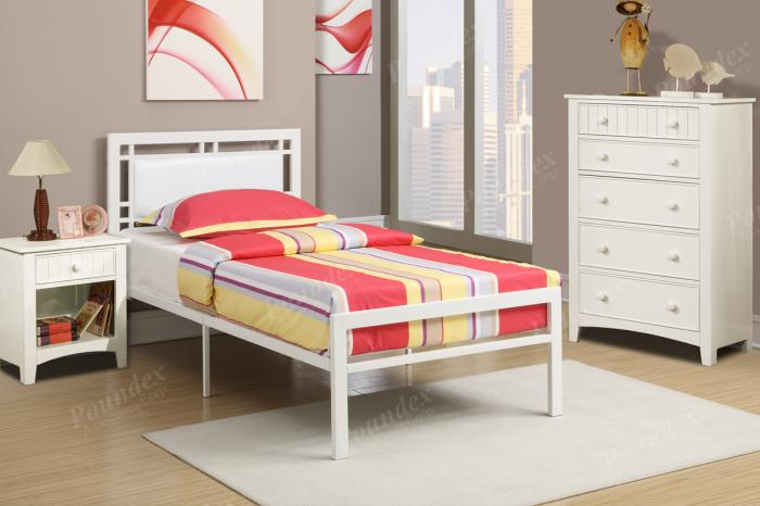 F9414 Twin Youth Bed with chest and nightstand,MEK IMPORTS