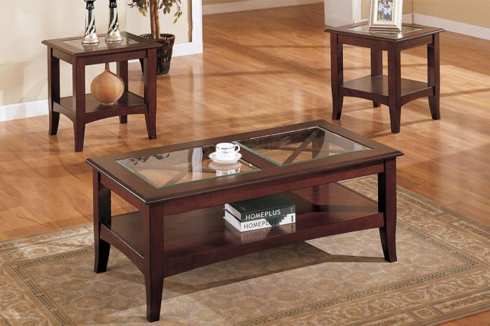 Amazing Furniture Taftville Ct F3075 3 Piece Coffee Table Set