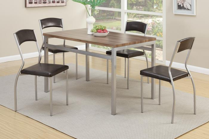 F2369 5 piece dining set package includes 4 chairs,MEK IMPORTS
