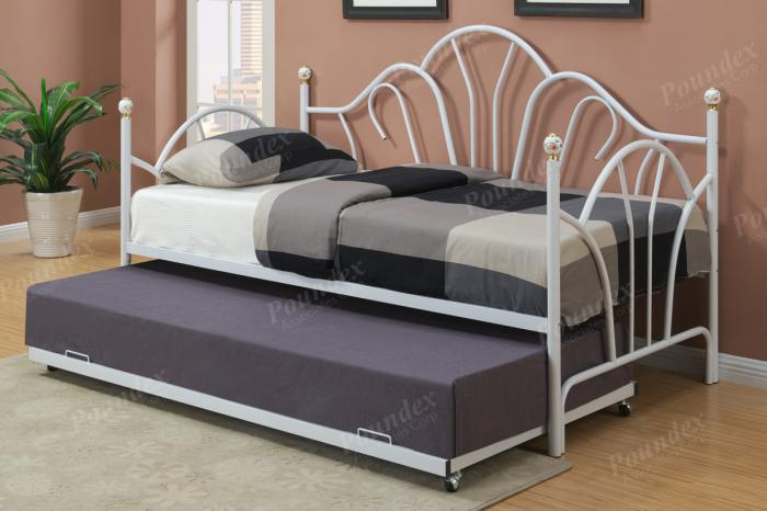 F9235 Day Bed with trundle, slats included (Bedding sold seperately),MEK IMPORTS