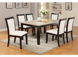 F2296 7 piece dining set package includes 6 chairs
