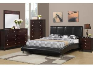 F9240 Queen Bed with dresser, mirror, nightstand and chest (slats included)
