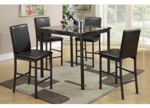 F2354 5 piece dining set package includes 4 chairs