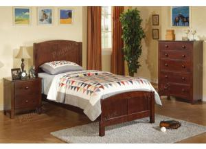 F9207 Twin Youth Bed with chest and nightstand